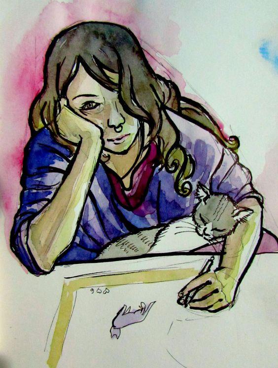 Katzen Minze por Maíra Coelho